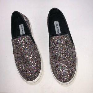 NIB STEVE MADDEN Ecentrcg Glitter Sneakers  7M